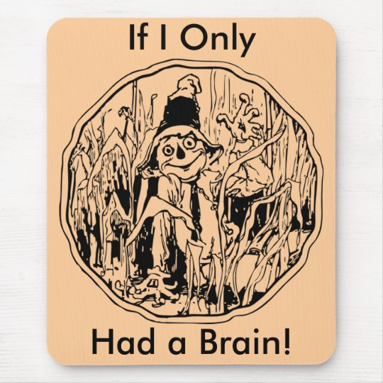 Halloween Scarecrow No Brain Mousepad