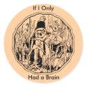 Halloween Scarecrow No Brain Sticker sticker
