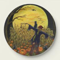 Halloween scarecrow paper plates
