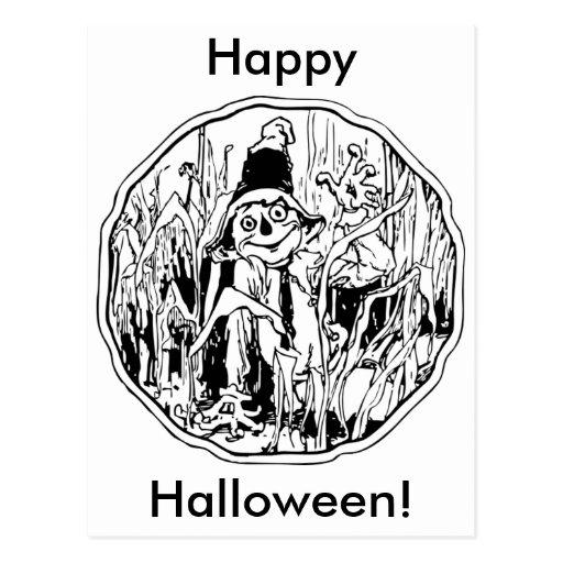Halloween Scarecrow Postcard