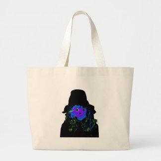 Halloween Scarecrow Purple The MUSEUM Zazzle Gifts Jumbo Tote Bag