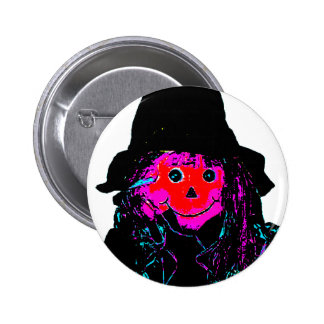 Halloween Scarecrow Red The MUSEUM Zazzle Gifts 2 Inch Round Button
