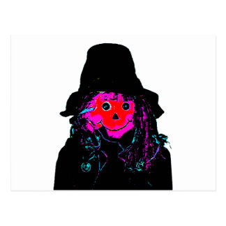 Halloween Scarecrow Red The MUSEUM Zazzle Gifts Postcard