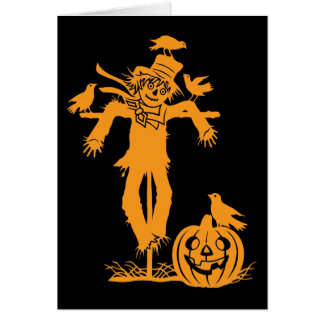 Halloween Scarecrow Silhouette Note Card
