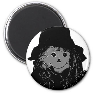 Halloween Scarecrow Silver The MUSEUM Zazzle Gifts 2 Inch Round Magnet