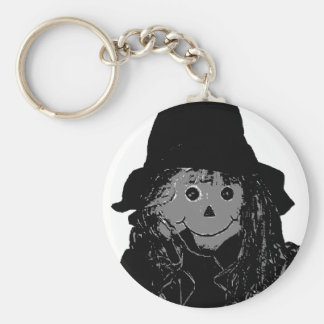 Halloween Scarecrow Silver The MUSEUM Zazzle Gifts Basic Round Button Keychain