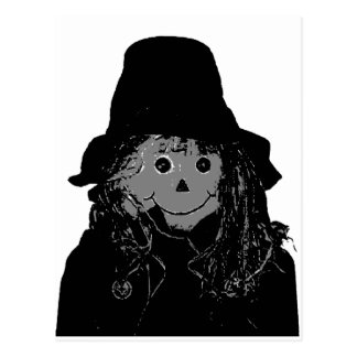 Halloween Scarecrow Silver The MUSEUM Zazzle Gifts Postcard