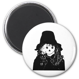 Halloween Scarecrow White The MUSEUM Zazzle Gifts 2 Inch Round Magnet