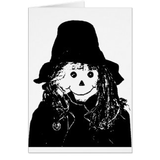 Halloween Scarecrow White The MUSEUM Zazzle Gifts Greeting Card