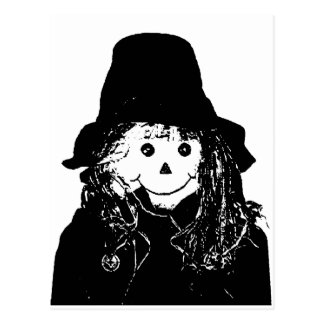 Halloween Scarecrow White The MUSEUM Zazzle Gifts Postcard