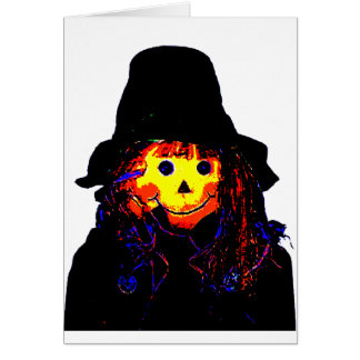 Halloween Scarecrow Yellow The MUSEUM Zazzle Gifts Greeting Card