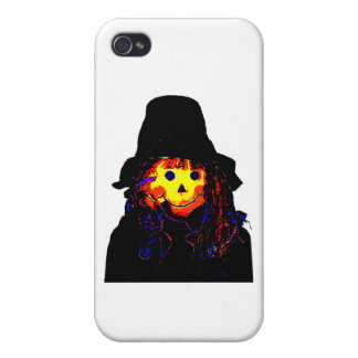 Halloween Scarecrow Yellow The MUSEUM Zazzle Gifts iPhone 4/4S Cases