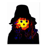Halloween Scarecrow Yellow The MUSEUM Zazzle Gifts Postcard