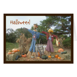 Halloween Scarecrows Greeting Card