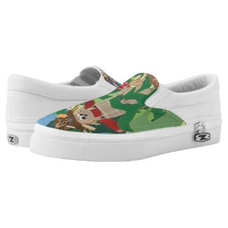Halloween Scarecrows Printed Shoes
