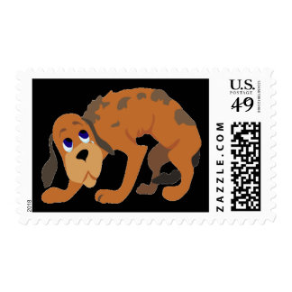 Halloween Scared Dog Postage Stamp