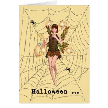 Halloween Themed Halloween Scared Fairy Card