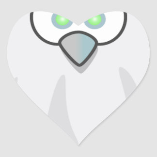 Halloween - Scared  Little Ghost Heart Sticker