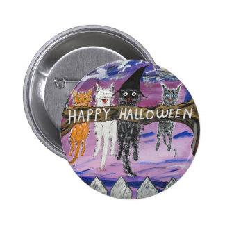 Halloween Scaredy Cats Button