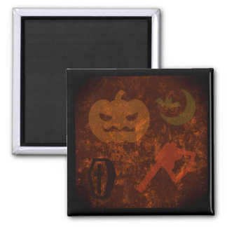 Halloween Scares on Eerie Background Magnet