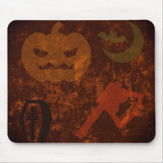 Halloween Scares on Eerie Background Mouse Pad