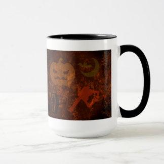 Halloween Scares on Eerie Background Mug