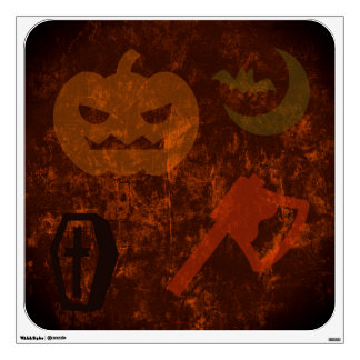 Halloween Scares on Eerie Background Wall Decal