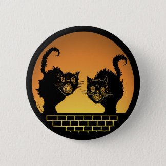 Halloween Scary Black Cats Button