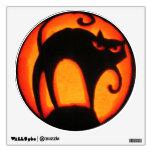 Halloween Scary Cat Jack-O-Lantern Room Sticker