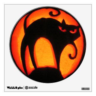 Halloween Scary Cat Jack-O-Lantern Room Stickers