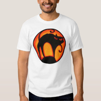 Halloween Scary Cat Jack-O-Lantern T-Shirt