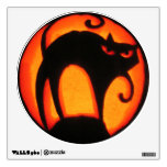 Halloween Scary Cat Jack-O-Lantern Wall Sticker