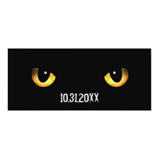 Halloween Scary Cat's Eyes Card