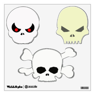 Halloween scary evil skulls wall sticker punk rock