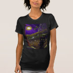 Halloween Scary Funny Cat Ghosts Creationarts T Shirt
