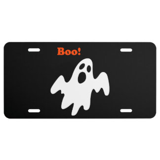 Halloween Scary Ghost Says Boo License Plate