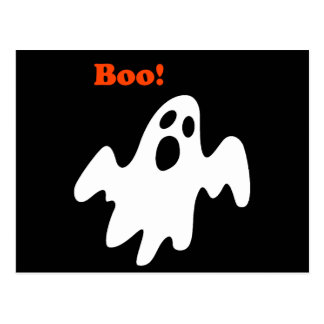 Halloween Scary Ghost Says Boo Postcard