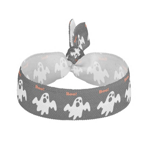 Halloween Scary Ghost Says Boo Hair Tie