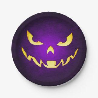 Halloween Scary Goblin Purple Plate