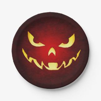 Halloween Scary Goblin Red Plate
