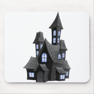 Halloween_Scary_House_Transparent_PNG_Image Mouse Pad