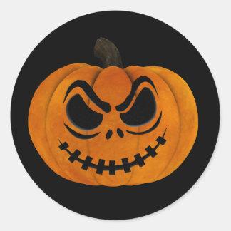 Halloween Scary Jack O Lantern Pumpkin Sticker