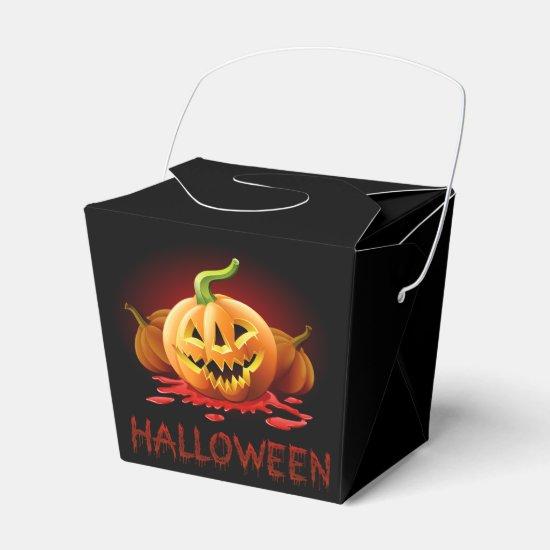 Halloween Scary Pumpkin Favor Box