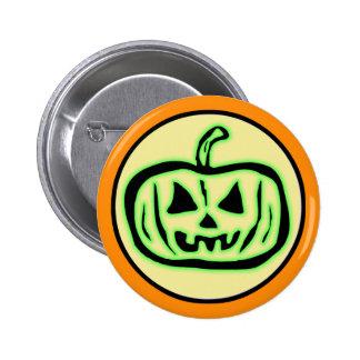Halloween Scary Pumpkin Jack O Lantern Button