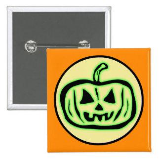 Halloween Scary Pumpkin Jack O Lantern Pinback Button