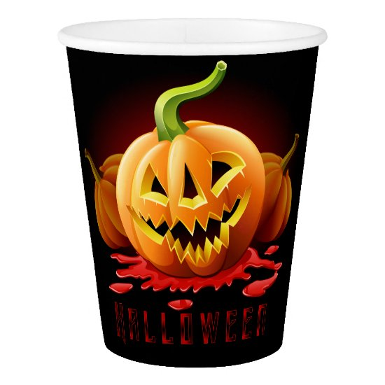 Halloween Scary Pumpkin Paper Cup