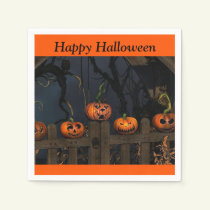 Halloween Scary Pumpkins Kids Party Paper Napkin