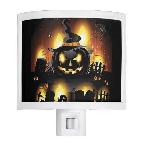 Halloween - Scary Pumpkins w/Hat Night Light