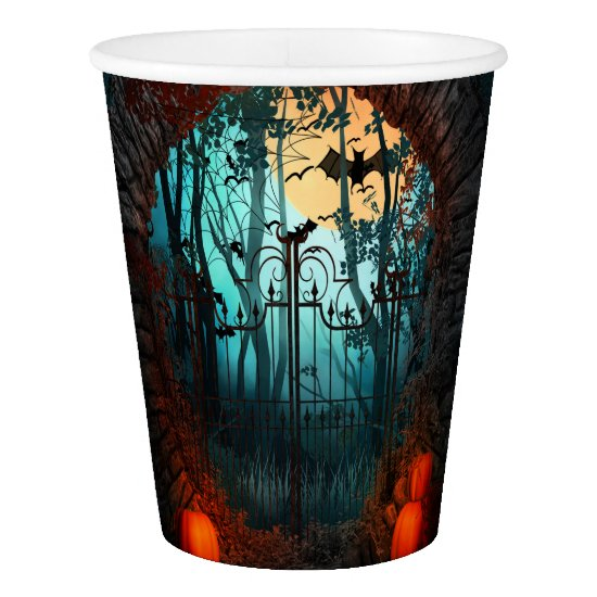 Halloween - Scary Scene 2 Gates Paper Cup