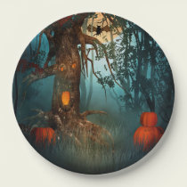 Halloween Scary Scene (3) Both Sizes Paper Plate
